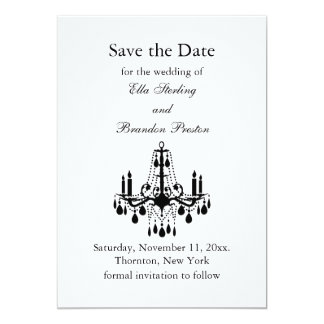 Grand Ballroom Save the Date (white) Personalized Announcements