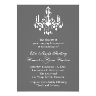 Grand Ballroom Wedding Invitation 2 (gray)