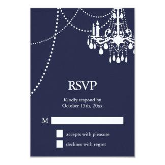 Grand Ballroom Wedding RSVP in Blue Card
