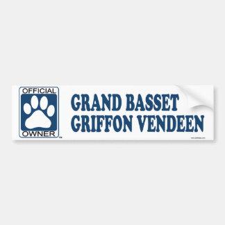 Grand Basset Griffon Vendeen Blue Bumper Sticker