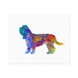 Grand Basset Griffon Vendeen in watercolor Canvas Print