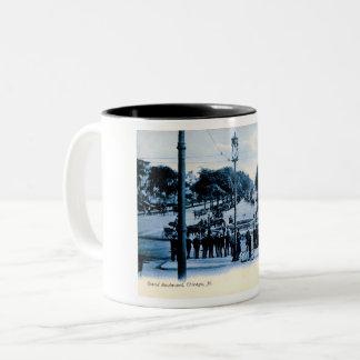 Grand Boulevard, Chicago, Illinois Vintage Two-Tone Coffee Mug
