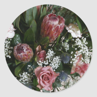 Grand Bouquet Classic Round Sticker