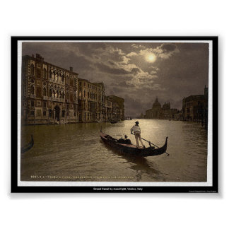 Grand Canal by moonlight, Venice, Italy Poster