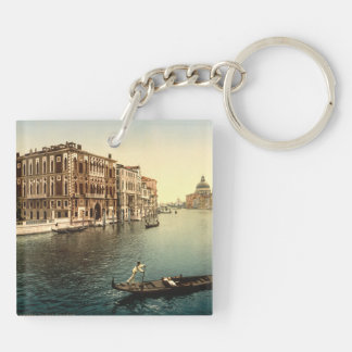 Grand Canal II, Venice, Italy Double-Sided Square Acrylic Key Ring