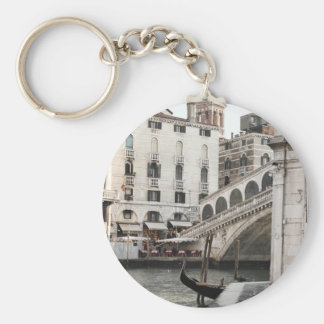 Grand Canal in Venice Basic Round Button Key Ring