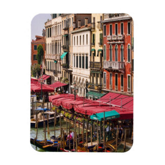 Grand Canal of Venice Italy with gondola boats Rectangular Photo Magnet