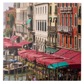 Grand Canal of Venice Italy with gondola boats Tile