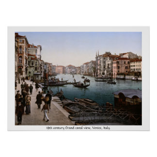 Grand Canal, Venice 19th century Italy Poster