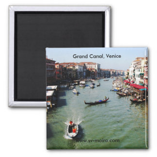 Grand Canal, Venice from Rialto Bridge Square Magnet