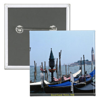 Grand Canal, Venice, Italy 15 Cm Square Badge