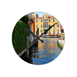 Grand Canal, Venice, Italy Round Clock
