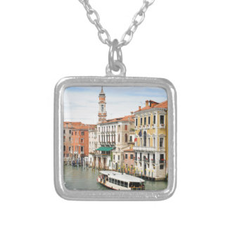 Grand Canal, Venice, Italy Silver Plated Necklace