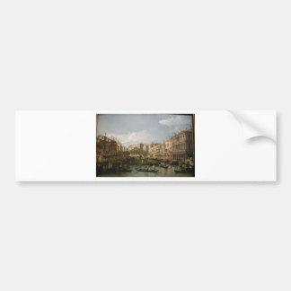 Grand canal, view from north by Bernardo Bellotto Bumper Sticker