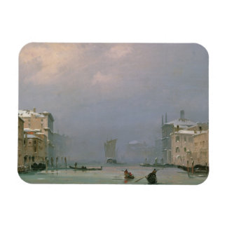 Grand Canal with Snow and Ice 1849 Rectangle Magnets
