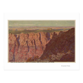 Grand Canyon, Arizona - Sunset on the Painted Postcard