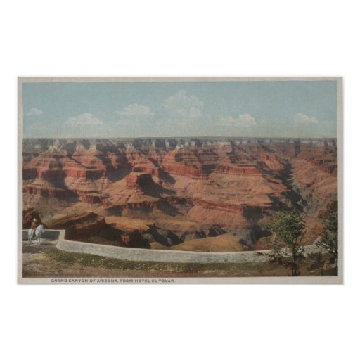 Grand Canyon, Arizona - View of Canyon from Hote Print