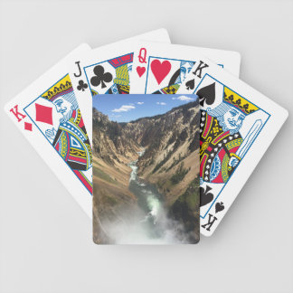 Grand Canyon at Yellowstone Park Bicycle Playing Cards