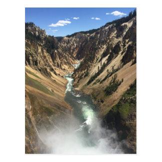 Grand Canyon at Yellowstone Park Postcard