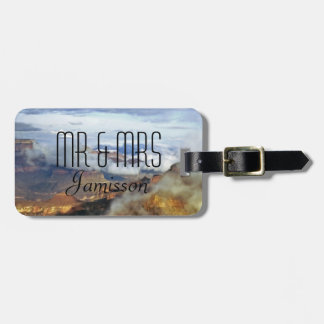 Grand Canyon Clouds Personalized Mr and Mrs Custom Bag Tag