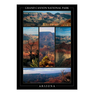 Grand Canyon Collage Poster
