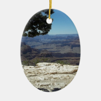 Grand Canyon Double-Sided Oval Ceramic Christmas Ornament