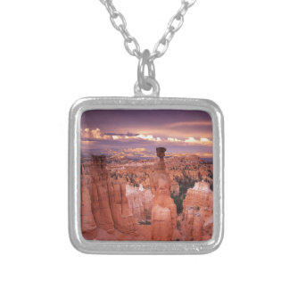 Grand Canyon during Golden Hour Silver Plated Necklace