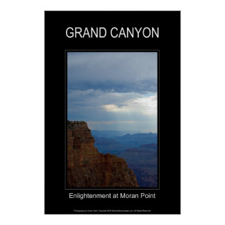 Grand Canyon Enlightenment 4839 Black Poster