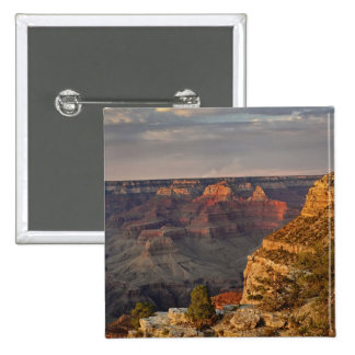 Grand Canyon from the south rim at sunset, 2 15 Cm Square Badge