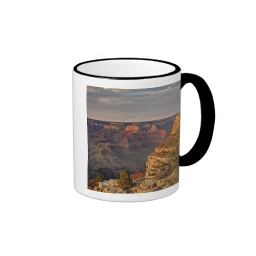 Grand Canyon from the south rim at sunset, 2 Mugs