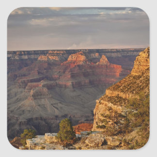Grand Canyon from the south rim at sunset, 2 Square Sticker