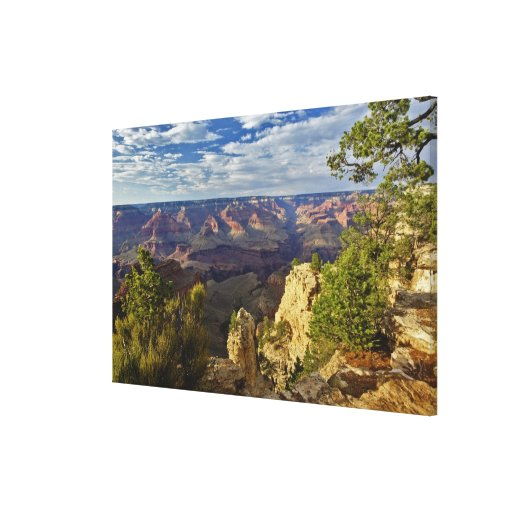 Grand Canyon from the south rim at sunset, 3 Stretched Canvas Print