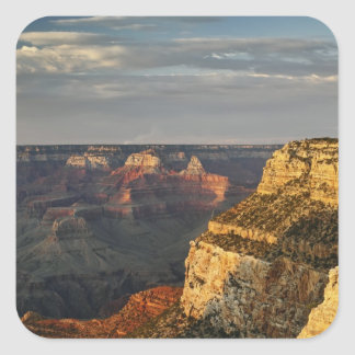 Grand Canyon from the south rim at sunset, 3 Square Sticker