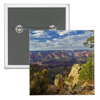 Grand Canyon from the south rim at sunset, 6 15 Cm Square Badge