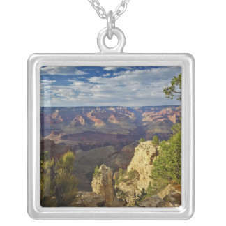 Grand Canyon from the south rim at sunset, 6 Square Pendant Necklace