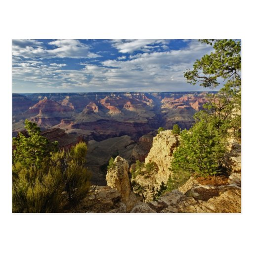 Grand Canyon from the south rim at sunset, 6 Postcards