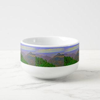 Grand Canyon In Cartoon Soup Bowl