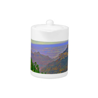 Grand Canyon in Cartoon Tea Pot