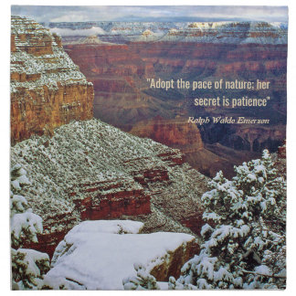 Grand Canyon in Winter with Emerson Quote Napkin