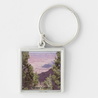 Grand Canyon Silver-Colored Square Key Ring