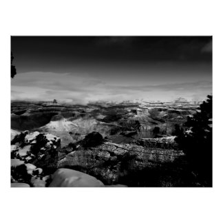 Grand Canyon land under the clouds Poster