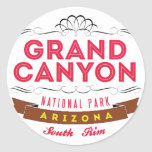 Grand Canyon national park Classic Round Sticker