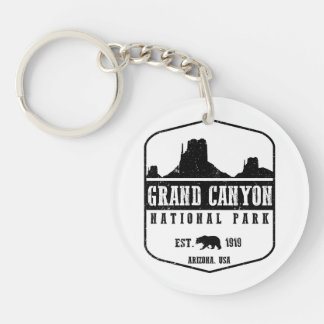 Grand Canyon National Park Double-Sided Round Acrylic Key Ring