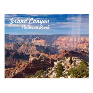 Grand Canyon National Park during a rainshower Postcard