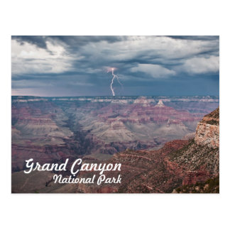 Grand Canyon National Park Lightning Strike Postcard