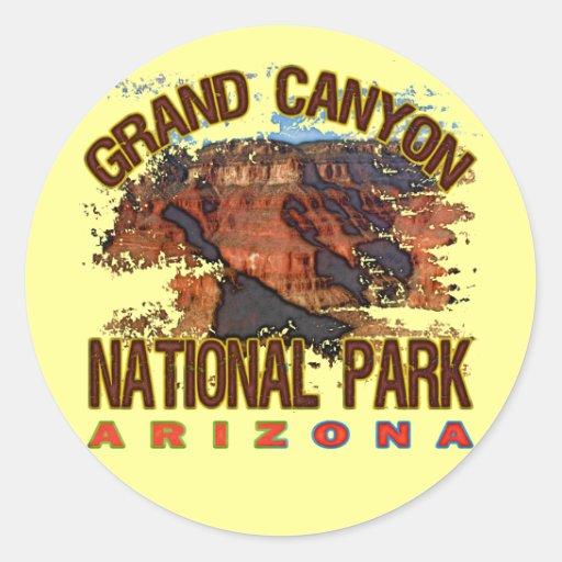 Grand Canyon National Park Round Sticker