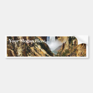 Grand Canyon Of The Yellowstone Park Looking Towar Bumper Stickers