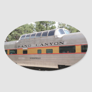 Grand Canyon Railway carriage, Arizona Oval Sticker