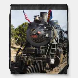 Grand Canyon Railway steam engine 4960 Drawstring Backpack