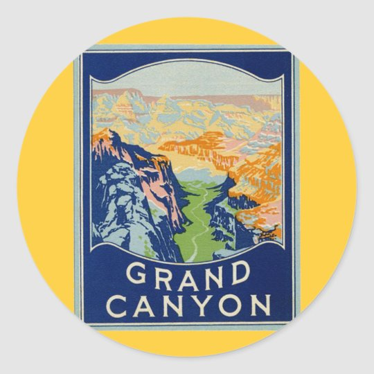 Grand Canyon Round Sticker